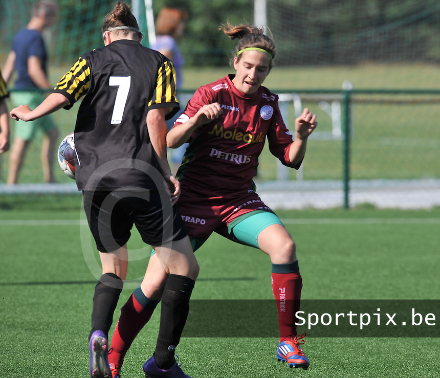 Dames Zulte - Waregem : Lindsey De Rijcke .foto DAVID CATRY  / Vrouwenteam.be.