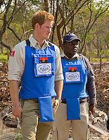 Prince Harry in Angola, minefields charity visit