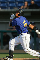 August 9 2009: Efren Navarro of the Rancho Cucamonga Quakes during game against the San Jose Giants at The Epicenter in Rancho Cucamonga,CA.  Photo by Larry Goren/Four Seam Images