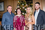 Christmas cracker<br /> ------------------------<br /> having fun at the Dairymaster staff party last Saturday night in the Ballygarry house hotel, Tralee were L-R Liam&amp;Joan Brennan, Claire Shaughnessy with Gary Kelliher.