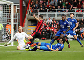30th September 2017, Vitality Stadium, Bournemouth, England; EPL Premier League football, Bournemouth versus Leicester; Vicente Iborra of Leicester tackles Marc Pugh of Bournemouth and concedes a corner