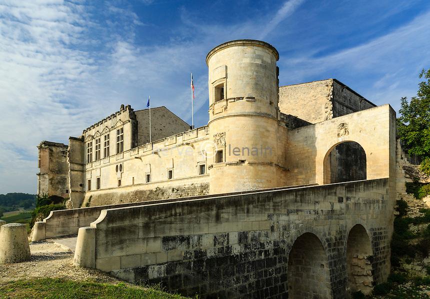 France, Charente (16), Bouteville, château de Bouteville // France, Charente, Bouteville, the castle