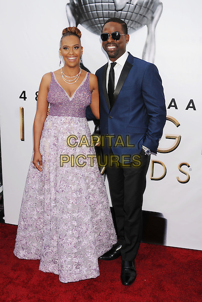 PASADENA, CA - FEBRUARY 11: Actor Sterling K. Brown (R) and Ryan Michelle Bathe arrive at the 48th NAACP Image Awards at Pasadena Civic Auditorium on February 11, 2017 in Pasadena, California.<br /> CAP/ROT/TM<br /> &copy;TM/ROT/Capital Pictures