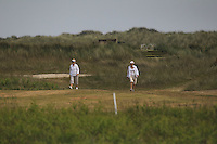 Two Ladies out for a stroll during Round 4 of the East of Ireland Amateur Open Championship sponsored by City North Hotel at Co. Louth Golf club in Baltray on Monday 6th June 2016.<br /> Photo by: Golffile   Thos Caffrey