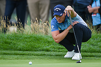 Danny Willett (GBR) lines up his putt on 6 during round 2 of the 2019 US Open, Pebble Beach Golf Links, Monterrey, California, USA. 6/14/2019.<br /> Picture: Golffile | Ken Murray<br /> <br /> All photo usage must carry mandatory copyright credit (© Golffile | Ken Murray)