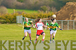 Kerry's l-r: Bernie Breen and Sarah Houlihan and Tyrone's Gemma Begley.