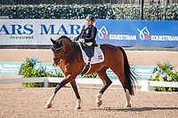 DEN-Stinna Tange Kaastrup rides Horsebo Smarties during the FEI World Freestyle Para Dressage Championships - Grade II. 2018 FEI World Equestrian Games Tryon. Saturday 22 September. Copyright Photo: Libby Law Photography