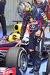 11.05.2013 Barcelona, Spain. Formula 1 Qualifying Session. Picture show Sebastian Vettel after finish Q3 at circuit de Catalunya
