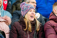 Laughing fan <br /> Re: Behind the Scenes Photographs at the Liberty Stadium ahead of and during the Premier League match between Swansea City and Bournemouth at the Liberty Stadium, Swansea, Wales, UK. Saturday 25 November 2017