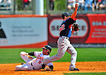 14 March 2009: Boston Red Sox' infielder Nick Green in action during a Spring Training game against the Baltimore Orioles at Fort Lauderdale Stadium in Fort Lauderdale, Florida. The Orioles defeated the Red Sox 9-8 in the Grapefruit League matchup. Mandatory Photo Credit: Ed Wolfstein Photo