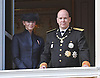 """PRINCE ALBERT AND PRINCESS CHARLENE .wave to members of the public from the balcony of the Royal Palace on the occasion of the National Day, Monte Carlo, Monaco_19/11/2012.Mandatory Credit Photos: ©NEWSPIX INTERNATIONAL..**ALL FEES PAYABLE TO: """"NEWSPIX INTERNATIONAL""""**..PHOTO CREDIT MANDATORY!!: NEWSPIX INTERNATIONAL(Failure to credit will incur a surcharge of 100% of reproduction fees)..IMMEDIATE CONFIRMATION OF USAGE REQUIRED:.Newspix International, 31 Chinnery Hill, Bishop's Stortford, ENGLAND CM23 3PS.Tel:+441279 324672  ; Fax: +441279656877.Mobile:  0777568 1153.e-mail: info@newspixinternational.co.uk"""