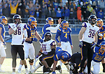 BROOKINGS, SD - DECEMBER 2: Chase Vinatieri # 4 from South Dakota State watches his 55 yard field goal sail through the uprights against Northern Iowa during their FCS Division 1 playoff game Saturday afternoon at Dana J. Dykhouse Stadium in Brookings, SD. (Photo by Dave Eggen/Inertia)