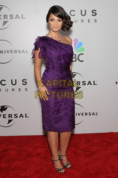 PAULA GARCES.The 2010 NBC, Universal Pictures & Focus Features' Annual Golden Globes After-Party at the Beverly Hilton, Beverly Hills, CA, USA.                                                                         January 17th, 2010.globes full length purple one shoulder dress.CAP/LNC/AM.©Alba Montes/LNC/Capital Pictures