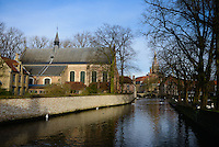Swans and the Begijnhof Bridge, Brugge