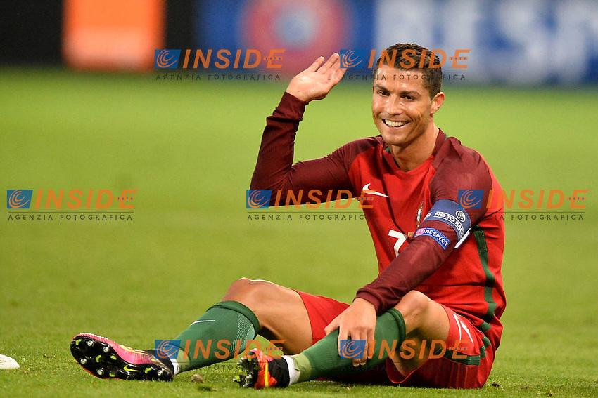 Cristiano Ronaldo Portugal <br /> Saint-Etienne 14-06-2016 Stadium Geoffroy-Guichard Football Euro2016 Portugal-Iceland / Portogallo-Islanda Group Stage Group F<br /> Foto Anthony Bibard / Panoramic / Insidefoto