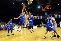 Action from the national basketball league match between Wellington Saints and Taylor Hawks at TSB Bank Arena in Wellington, New Zealand on Friday, 17 March 2017. Photo: Dave Lintott / lintottphoto.co.nz