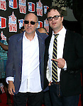 Musician Pete Townshend of The Who and Actor Rainn Wilson arrive at the 2008 VH1 Rock Honors: The Who at Pauley Pavilion on the UCLA Campus on July 12, 2008 in Westwood, California. California.