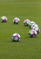 Footballs on the pitch before the Premier League match between Swansea City and Hull City at the Liberty Stadium, Swansea on Saturday August 20th 2016