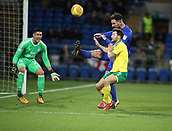 1st December 2017, Cardiff City Stadium, Cardiff, Wales; EFL Championship Football, Cardiff City versus Norwich City; Sean Morrison (C) of Cardiff City clears the ball from danger as Wesley Hoolahan of Norwich City comes close