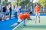 UTRECHT - Tim Swaen (Bldaal)  tijdens de hoofdklasse competitiewedstrijd mannen, Kampong-Bloemendaal (2-2) . ) . COPYRIGHT KOEN SUYK