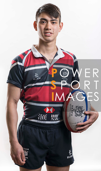 Hong Kong Junior Squad team member Daniel Davidson poses during the Official Photo Session Day at King's Park Sports Ground ahead the Junior World Rugby Tournament on 25 March 2014. Photo by Andy Jones / Power Sport Images
