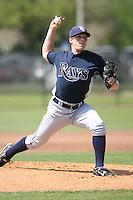 March 19th 2008:  Jeremy Hellickson of the Tampa Bay Devil Rays minor league system during Spring Training at the Raymond A. Naimoli Complex in St. Petersburg, FL.  Photo by:  Mike Janes/Four Seam Images