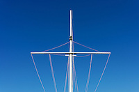 Mast of a boat.
