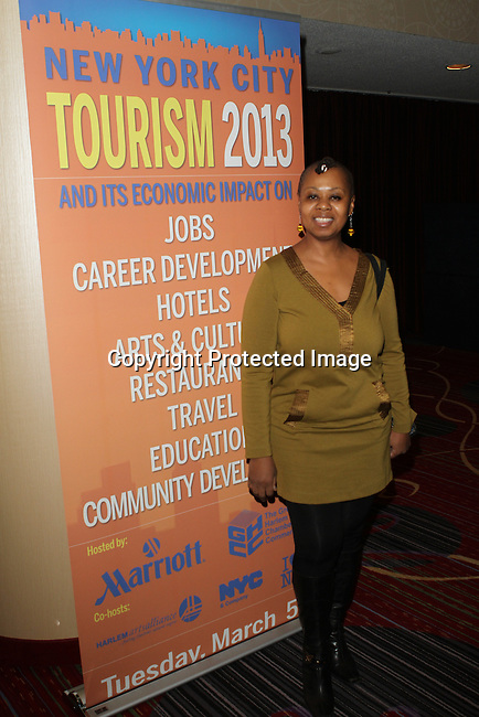 Unveiled Unlocked's CEO & Founder Aleathia Brown  Attends The Greater Harlem Chamber of Commerce and its media partners WBLS-FM and New York Amsterdam News presents: New York City Tourism 2013, Hosted by NYC & CO, Marriott, Harlem Arts Alliance and I LOVE NY Held at the Marriott Marquis Hotel, NY
