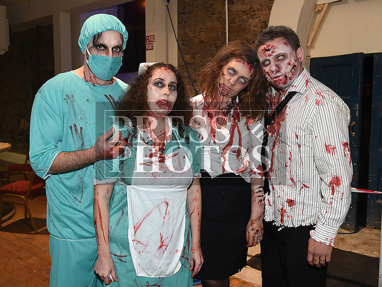 Matthew and Catherine Myles and Edel and Darren Rooney at the Halloween Ball in the old church Ardee in aid of St. Mary's GAA club. Photo:Colin Bell/pressphotos.ie