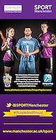Portrait imagery of athletes used in promotional material for SPORT Manchester.