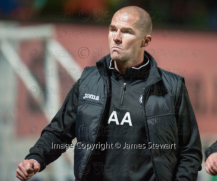 Partick manager Alan Archibald at the end of the game.
