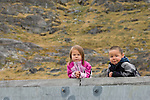 Two young children in the remote village of Tasiussaq, Greenland.