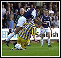 31/8/02       Collect Pic : James Stewart                     .File Name : stewart-falkirk v qots 12.PETER WEATHERSON CHALLENGES OWEN COYLE....James Stewart Photo Agency, 19 Carronlea Drive, Falkirk. FK2 8DN      Vat Reg No. 607 6932 25.Office : +44 (0)1324 570906     .Mobile : + 44 (0)7721 416997.Fax     :  +44 (0)1324 570906.E-mail : jim@jspa.co.uk.If you require further information then contact Jim Stewart on any of the numbers above.........