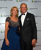 Betsy DeVos and her husband, Richard arrives for the formal Artist's Dinner honoring the recipients of the 41st Annual Kennedy Center Honors hosted by United States Deputy Secretary of State John J. Sullivan at the US Department of State in Washington, D.C. on Saturday, December 1, 2018.   <br /> CAP/MPI/RS<br /> &copy;RS/MPI/Capital Pictures