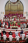 Sunday church service led by Rev. Dr. Gregory Eason, Sr. at Big Bethel AME in Atlanta, Georgia, July 2012. With more than 160 years of history, Big Bethel AME Church is the oldest African American congregation in the city of Atlanta.