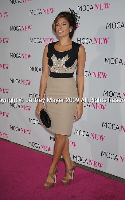 LOS ANGELES, CA. - November 14: Eva Mendes arrives at the MOCA NEW 30th anniversary gala held at MOCA on November 14, 2009 in Los Angeles, California.