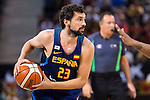Spain's basketball player Sergio Llull during the  match of the preparation for the Rio Olympic Game at Madrid Arena. July 23, 2016. (ALTERPHOTOS/BorjaB.Hojas)