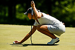 STILLWATER, OK - MAY 21: Cheyenne Knight of Alabama places her ball on the green during the Division I Women's Golf Individual Championship held at the Karsten Creek Golf Club on May 21, 2018 in Stillwater, Oklahoma. (Photo by Shane Bevel/NCAA Photos via Getty Images)