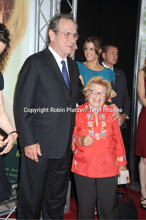 "Tommy Lee Jones and Dr Ruth Westheimer attends the World Premiere of ""Hope Springs"" on August 6, 2012 at The SVA Theatre in New York City. The movie stars Meryl Streep, Tommy Lee Jones and Steve Carrell."