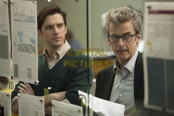 Dan Stevens, Peter Capaldi<br /> in The Fifth Estate (2013) <br /> *Filmstill - Editorial Use Only*<br /> CAP/NFS<br /> Image supplied by Capital Pictures