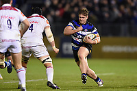 Nick Auterac of Bath Rugby goes on the attack. Anglo-Welsh Cup match, between Bath Rugby and Leicester Tigers on November 10, 2017 at the Recreation Ground in Bath, England. Photo by: Patrick Khachfe / Onside Images