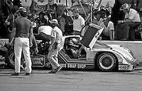 Danny Sullivan sits in his car during a pitstop during the 24 Hours of Daytona, Daytona International Speedway, Daytona Beach, FL, February 2, 1986.  (Photo by Brian Cleary/www.bcpix.com)