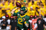 Baylor Bears quarterback Charlie Brewer (12) in action during the game between the Texas Tech Red Raiders and the Baylor Bears at the McLane Stadium in Waco, Texas.