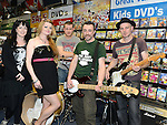'Dem Fools' who performed at 'Record Store Day' in CD World at the Drogheda Town Centre. Photo:Colin Bell/pressphotos.ie