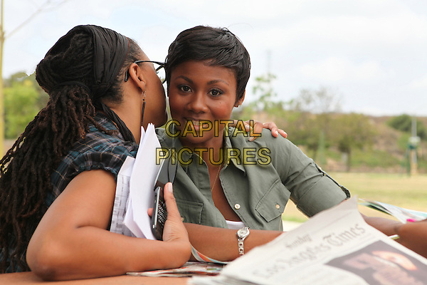 Ava DuVernay (Director), Emayatzy Corinealdi<br /> on the set of Middle of Nowhere (2012) <br /> *Filmstill - Editorial Use Only*<br /> CAP/FB<br /> Image supplied by Capital Pictures