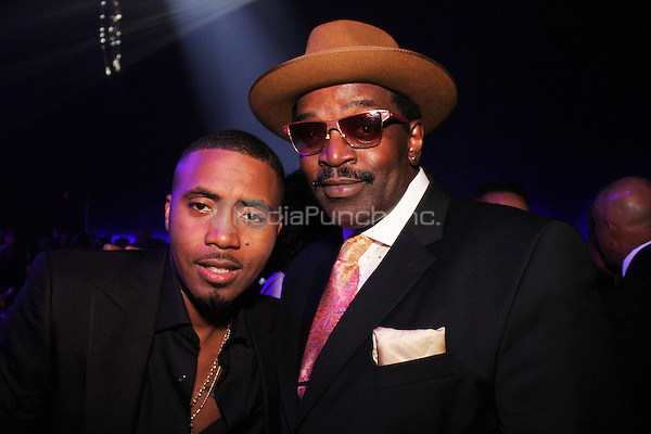 NEW YORK, NY - OCTOBER 30: Nas & Fab Five Freddy attend the Keep A Child Alive 11th Annual Black Ball at the Hammerstein Ballroom, October 30th 2014 in New York City. Credit: Walik Goshorn/MediaPunch