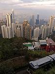 Tramway and Hongkongs skycrapers.