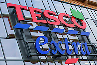 Tesco Extra supermarket sign