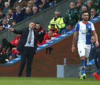Blackburn Rovers manager Tony Mowbray shouts instructions to his team from the dug-out<br /> <br /> Photographer Stephen White/CameraSport<br /> <br /> The EFL Sky Bet Championship - Blackburn Rovers v Bristol City - Monday 17th April 2017 - Ewood Park - Blackburn<br /> <br /> World Copyright &copy; 2017 CameraSport. All rights reserved. 43 Linden Ave. Countesthorpe. Leicester. England. LE8 5PG - Tel: +44 (0) 116 277 4147 - admin@camerasport.com - www.camerasport.com