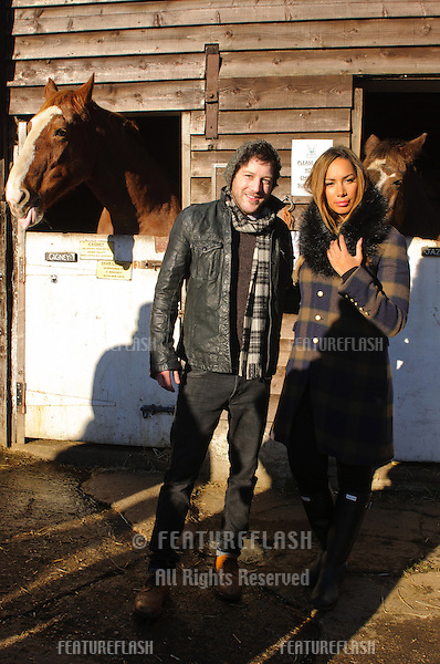 Leona Lewis and Matt Cardle at the Hopefield Animal Sanctuary Christmas Fete, Brentwood, Essex. 02/12/2012 Picture by: Simon Burchell / Featureflash